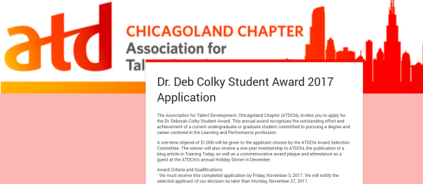 Deb Colky Student Award Application